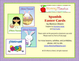 mommy maestra free spanish easter themed note cards printable