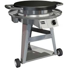 Patio Classic Charcoal Grill by Evo Companion Classic Wheeled Cart Flattop Grill Natural Gas