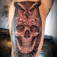 owl skull tattoo tattoo collections