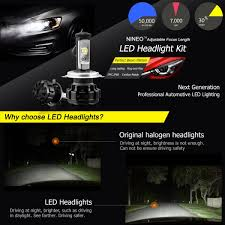 mercedes headlights at night nineo h4 led headlight bulbs hi lo beam 9003 cree xpl chips