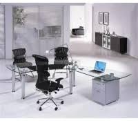 Modern Glass Executive Desk Modern Office Glass Desk Edeskco