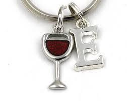 wine glass keychain wine opener keychain etsy
