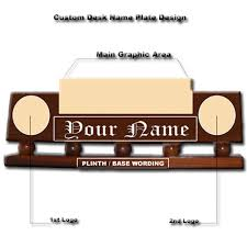 custom wooden desk nameplates personalized so design your own