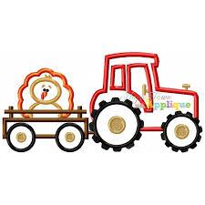tractor trailer with turkey applique design