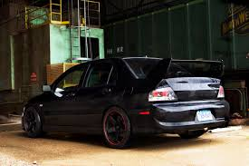 black mitsubishi lancer aggressive evo 8 farmofminds