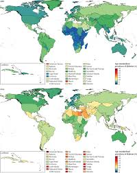 Central America And Caribbean Map Quiz by Worldwide Trends In Diabetes Since 1980 A Pooled Analysis Of 751