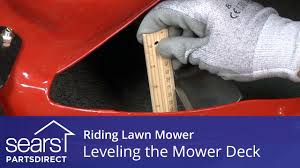 leveling a riding lawn mower deck for an even cut youtube