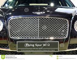 bentley front front grill of bentley series flying spur w12 luxury car editorial