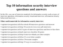 Information Security Resume Examples by Top 10 Information Security Interview Questions And Answers 1 638 Jpg Cb U003d1420686213