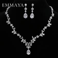 white crystal necklace set images Emmaya brand gorgeous aaa cz stones jewelry set white crystal jpg