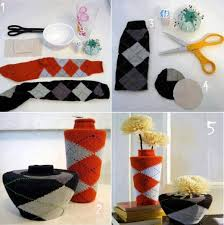 custom photo of socks to vases home diy ideas creative diy