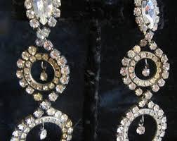 rhinestone chandelier earrings chandelier earrings etsy