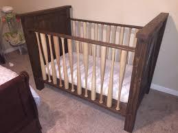 Solid Wood Mini Crib by Baseball Bat Crib Hand Made Solid Wood Crib Made With Real