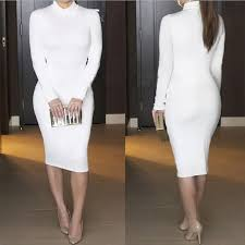 long sleeve all white pencil dress xl from janiece u0027s closet on