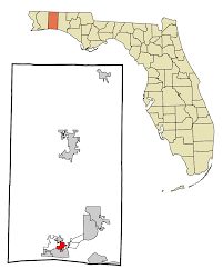 Map Destin Florida by Ocean City Florida Wikipedia