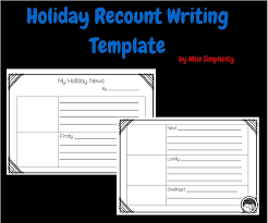 subjects simple recount writing template for