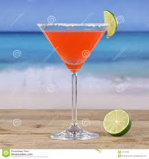cocktail martini red cocktail martini drink on the beach stock photo image 42738292