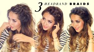 3 easy peasy headband braids quick hack hairstyles for short