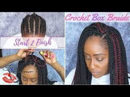 youtube crochet hairstyles on thinning hair how to crochet box braids tutorial no hair out start 2 finish