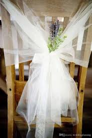 fashion tulle table cloth chair sashes popular wedding chair