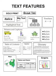 text features worksheet 3rd grade worksheets