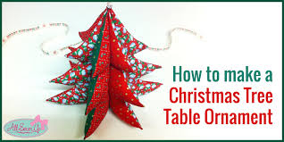 easy tree table ornament free sewing pattern
