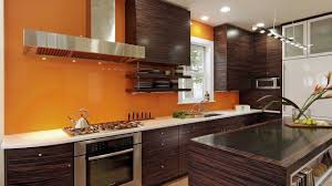 kitchen remodel featuring calypso orange back splash feature wall