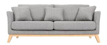 pieds de canapé canapé scandinave 3 places gris clair déhoussable pieds bois oslo