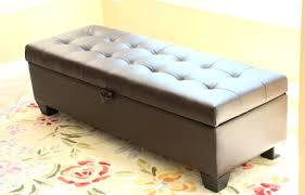 Black Leather Storage Ottoman Brown Leather Storage Bench With Arms Brown Leather Storage Bench