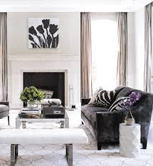 Decor Pad Living Room by Dark Brown Velvet Sofa Transitional Living Room Elle Decor