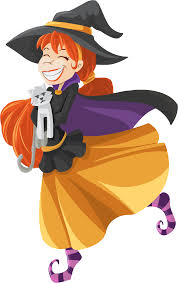 halloween clipart witch happy cartoon witch isolated by gdj halloween y terror vector