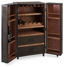 Furniture Wine Bar Cabinet Schultz Rolling Wine Trunk Traditional Wine And Bar Cabinets
