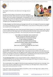 marriage prayers for couples our marriage prayer knights of columbus