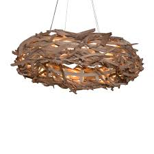 Oyster Chandelier Decor Adorable Beautiful House Bird Style Driftwood Chandelier