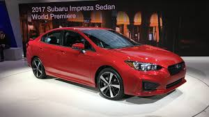 subaru leone sedan 2017 subaru impreza sedan and hatch debut at new york auto show