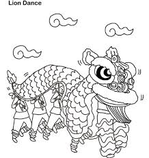 lion dance colouring lion dance chinese new year coloring pages