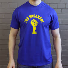 no pasarán fist t shirt from redmolotov com