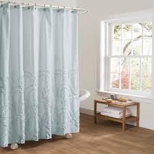Lush Shower Curtains Lush Decor Esme Spa Blue Shower Curtain Free Shipping On Orders
