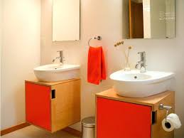 red bathroom cabinets red birch bathroom vanity traditional red