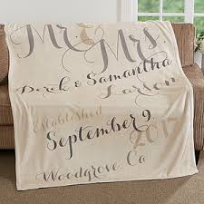 personalized wedding blankets personalized fleece blanket 50x60 anniversary gift wedding gifts