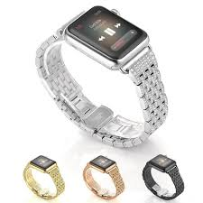 rhinestone bands stainless steel rhinestone apple band 38mm 42mm