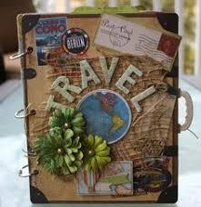 Small Scrapbook Album Teresa Collins Far U0026 Away Travel Mini Album Lots Of Photos