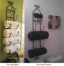 bathroom towel rack decorating ideas bathroom unique towel hooks design with white tile wall and