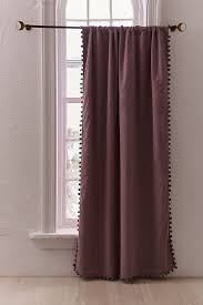 Blackout Curtains Blackout Pompom Curtain Outfitters