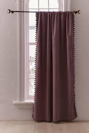 Blackout Purple Curtains Blackout Pompom Curtain Outfitters