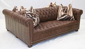 High End Leather Sofas Sided Tufted Leather Sofa High End Furniture