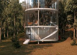 tubular glass house by aibek almassov could be built around a