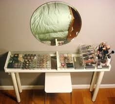 Small Makeup Desk Makeup Vanity For Small Spaces Ikea Hackers