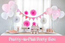 party in a box pretty in pink party box the party preppers