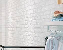 online buy wholesale white brick wallpaper from china white brick beibehang white brick wallpaper simple living room tv sofa background clothing store mediterranean bedroom 3d wallpaper
